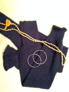 Legwarmers and hoop earrings, ready to wear