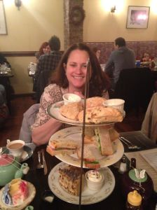 Our mad tea party at Alice's Tea Cup