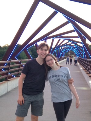 On the High Trestle Trail Bridge